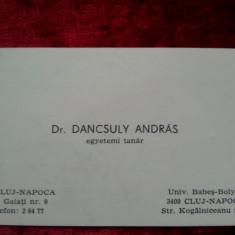 Carte de vizita Dancsuly Andras