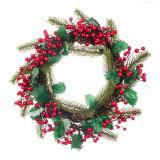 Cumpara ieftin Coronita decorativa de Craciun, 50 cm, model conuri si macese