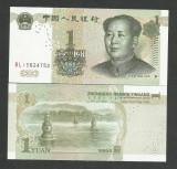CHINA 1 YUAN 1999 UNC [1] P- 895 a , Prefix : lit / lit / nr / nr