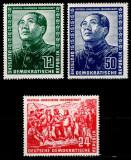 Germania DDR 1951, Mi #286-288, presedintele Mao Tse-tung, MNH, cota 320 €!, Oameni, Nestampilat