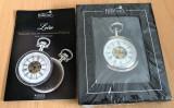 Ceas de buzunar - mecanic - Loire - The Heritage Collection - argintat - NOU !, Elegant, Mecanic-Manual, Analog