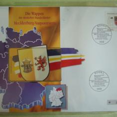 Cartela Telefonica + FDC Germania Mecklemburg-Vorpommern - Exponat Numerotat