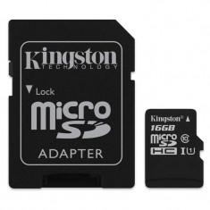 Card microSD Kingston, 16 GB, clasa 4