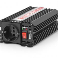 Invertor Transformator Tensiune Auto de la 12V la 230V, Port USB, 1 Priza, Putere 600W