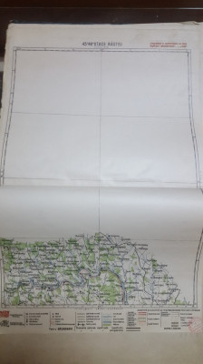 Harta Otace Răsteu, Staraja-Uszyca, Bakoly, Seliștea, 1929 foto