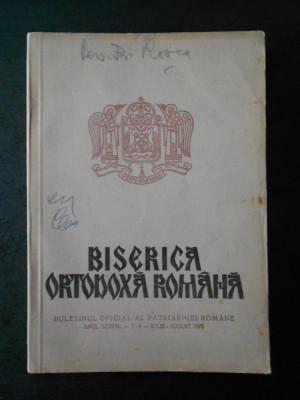 BISERICA ORTODOXA ROMANA. ANUL XCIII, Nr. 7-8, IULIE - AUGUST 1975 foto
