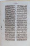 Manuscris - Foaie originală dintr-o Biblie - Anul 1250