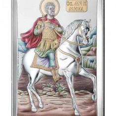 Icoana Argint Sfantul Mina 12x20cm Color Cod Produs 2787