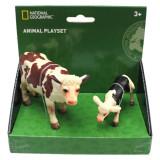 Set 2 figurine Vacuta si vitel National Geographic, 3 ani+
