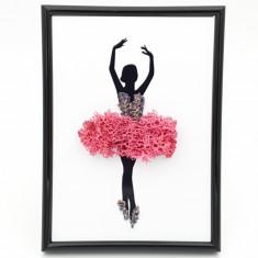Cumpara ieftin Tablou cu licheni naturali stabilizati Nordic Zen, Pinky ballerina, 13x18 cm