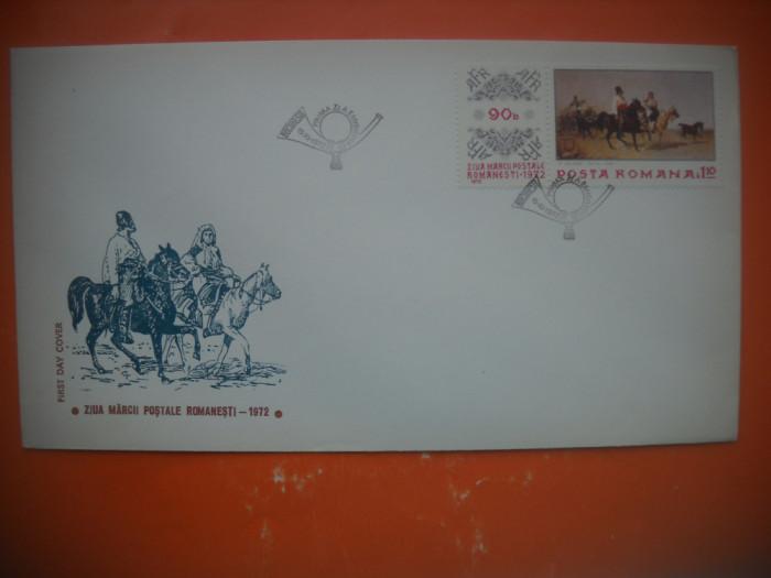 HOPCT PLIC FDC 2709  ZIUA MARCII POSTALE ROMANESTI 1972 -ROMANIA