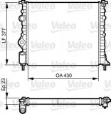 Radiator, racire motor RENAULT MEGANE I Classic (LA0/1) (1996 - 2006) VALEO 731378