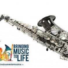 Saxofon Alto Karl Glaser NEGRU+ ARGINTIU NOU curbat Saxophone Germania