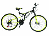 """Bicicleta MTB Full Suspensie Vision Kings 2D Culoare Negru/Verde Roata 26"""" OtelPB Cod:202602010304"""