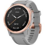 Smartwatch Fenix 6S Sapphire Rose Gold Si Curea Gri