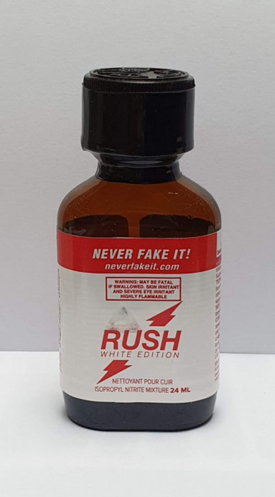 RUSH WHITE EDITION Poppers 24ml, aroma camera, ORIGINAL, SIGILAT, NR. 1 IN INTREAGA LUME!!! popers