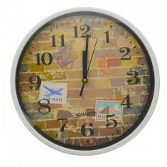 Ceas de perete, cu design de perete, diametru 30 cm - CEAS08