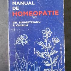 GH. BUNGETZIANU - MANUAL DE HOMEOPATIE