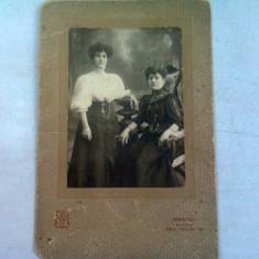 """FOTOGRAFIE ANII 1900, REALIZATA ATELIER DE PRIMUL RANG """"FOTOGRAFIA REMBRANDT"""", BUCURESTI-SINAIA, CALEA VICTORIEI 144"""