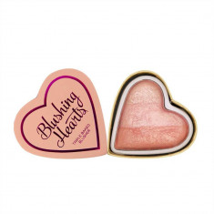Blush Iluminator Makeup Revolution I Heart Makeup Blushing Hearts Peachy Pink Kisses 10g