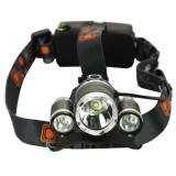 Lanterna Frontala 3 x Led Cree XML T6 Incarcator 220V Acumulatori 18650