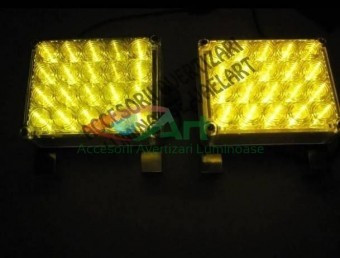 Lampa stroboscopica 44 LED GALBENA 24V foto