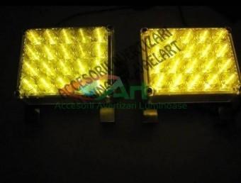 Lampa stroboscopica 44 LED GALBENA 24V