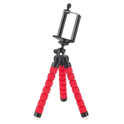 Trepied M-Life pentru Telefon si Camera Sport, picioare flexibile, Rosu foto