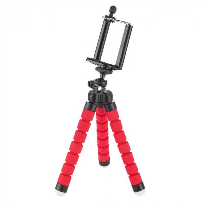 Trepied M-Life pentru Telefon si Camera Sport, picioare flexibile, Rosu