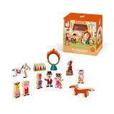 Set de joaca din lemn Mini povesti Janod, Circul
