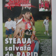 Revista Sport Magazin 23-29 iunie 1999/poster Ionel Ganea la Rapid