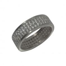 Inel Argint 925, Model Verigheta cu Zirconiu, Marimea 52