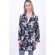 Kimono Floral Only Nova Lux Bleumarin