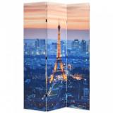 Paravan de cameră pliabil, 120 x 170 cm, Parisul noaptea, vidaXL