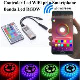 CONTROLER BANDA LED RGBW CU APLICATIE DEDICATA, CONTROL ONLINE SI TELECOMANDA
