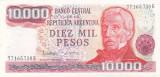 Bancnota Argentina 10.000 Pesos (1976-83) - P306b UNC