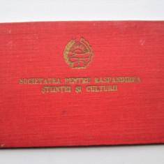 Carnet SRSC: Societatea pentru Raspandirea Stiintei si Culturii, Romania 1951