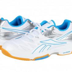 Pantofi sport sala femei Reebok Superior III white-blue-silver V57127, 38, 38.5