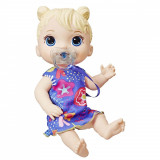 Papusa interactiva Baby Alive, Baby Lil Sounds Blond Hair