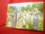 Ilustrata - Sapanta - Cimitirul Vesel - Parohia Ortodoxa Maramures, Necirculata, Printata