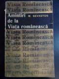 Amintiri De La Viata Romaneasca - M. Sevastos ,546542