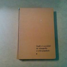 Studii si Cercetari de ETNOGRAFIE SI ARTA POPULARA - N. Ungureanu - 1981, 500 p