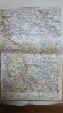 Harta Iași, Roman, Bacău, Vaslui, Hârlău, Târgu-Frumos, Popești, 1928