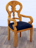 Scaun Beidermeier din lemn masiv furniruit cu artar CAT-BM-Stuhl-AL