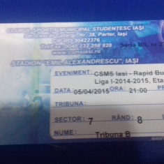 Bilet   CSMS  Iasi  -  Rapid