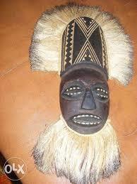 Masca veche tribala de lupta.masca veche africana,masca de colectie RARA,T.GRATU foto