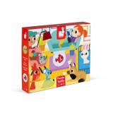 Puzzle tactil - Animale de companie - 20 de piese, Janod J02686