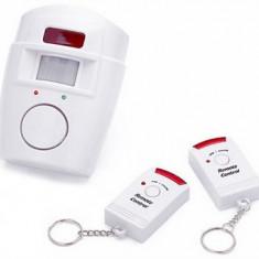 Alarma wireless cu 2 Telecomenzi + senzor miscare Mania