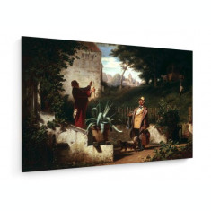 Tablou pe panza (canvas) - Carl Spitzweg - Childhood Friends - c. 1855
