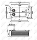 Termoflot radiator ulei (153x52x95, cu garnitura) FORD MONDEO III, TRANSIT 2.0D 2.2D 2.4D intre 2000-2007